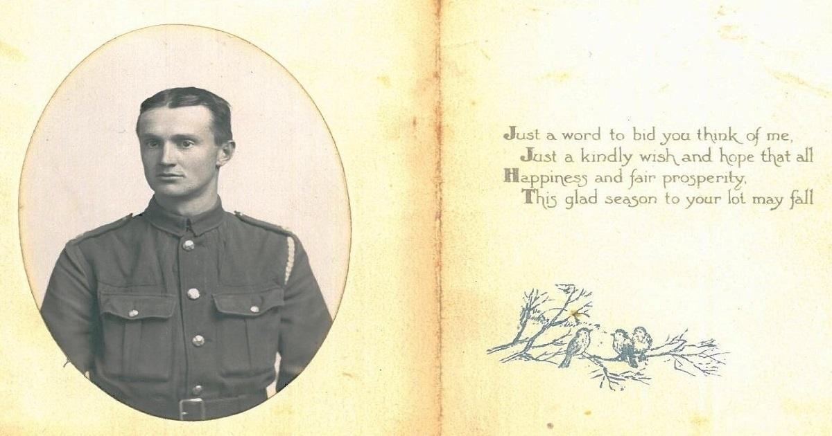 Dixon WW1 Christmas Card 1914/18