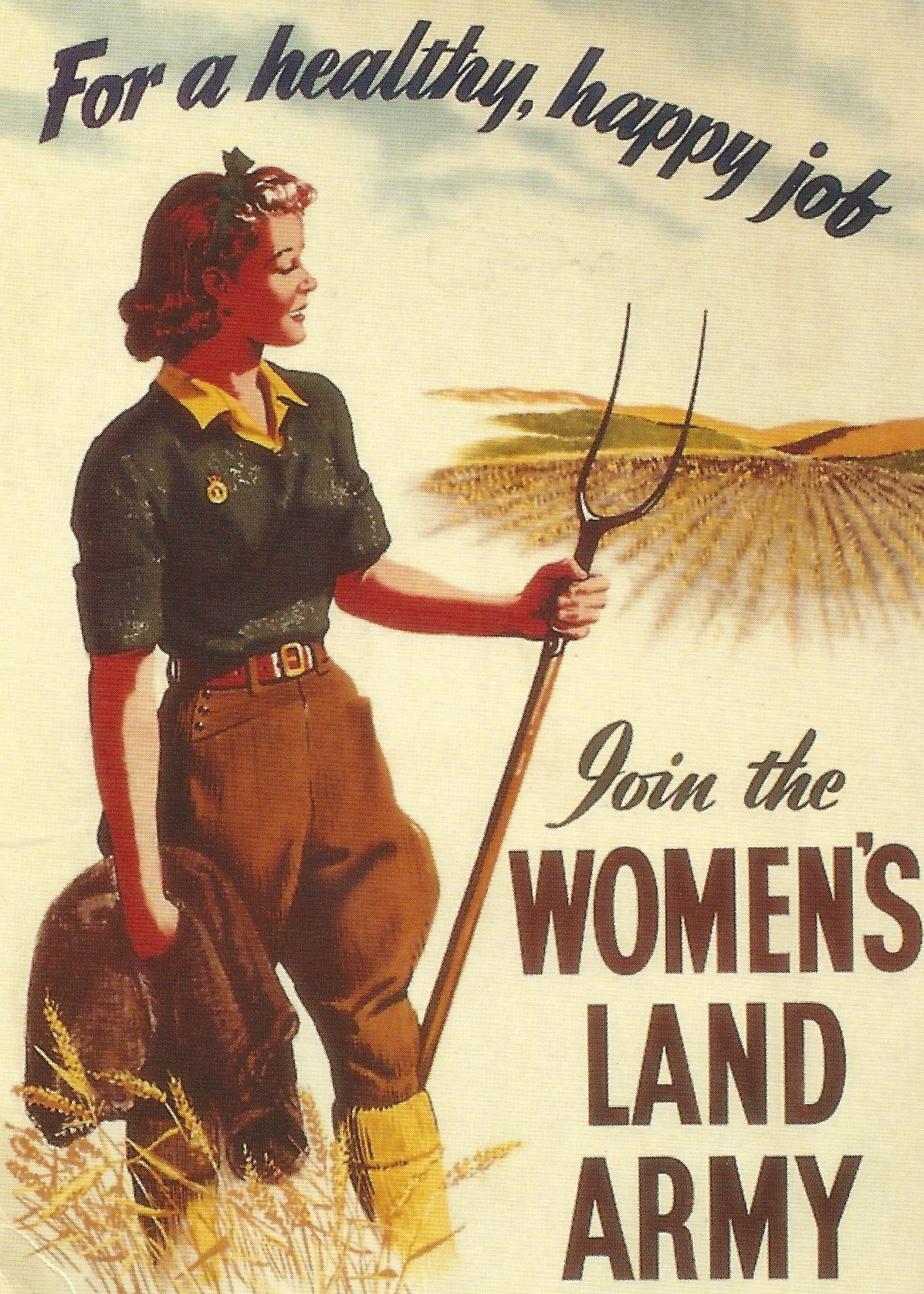 Land Army Recruitment Poster