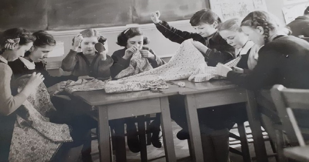 St. Peter's Sewing Class 1955